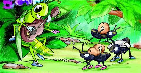 moral story the grasshopper and the ant story to all