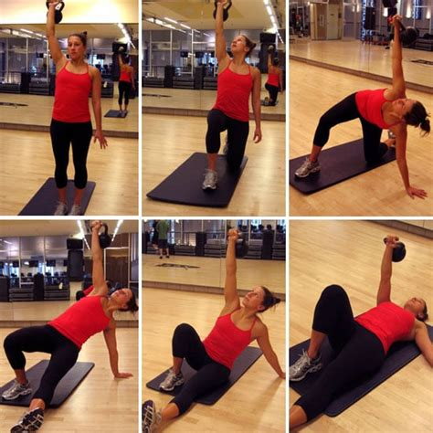 turkish kettlebell weight floor workouts moves fitness exercises loss popsugar down step throw exercise ups move squat easy side left
