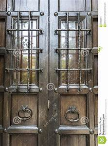 Old barred door stock image. Image of doorway, iron, home ...