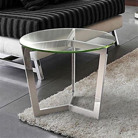bout de canap 233 en verre transparent sur cdc design