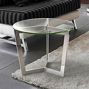Bout De Canapé Design : bout de canap en verre transparent alexa sur cdc design ~ Dode.kayakingforconservation.com Idées de Décoration