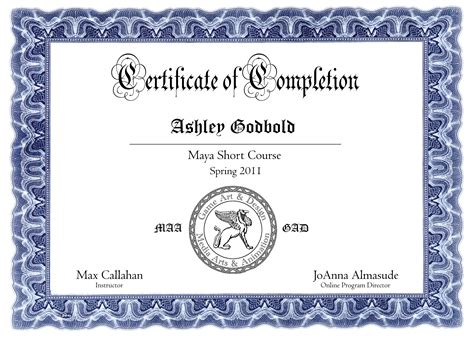 certificate courses course certificate of completion dr
