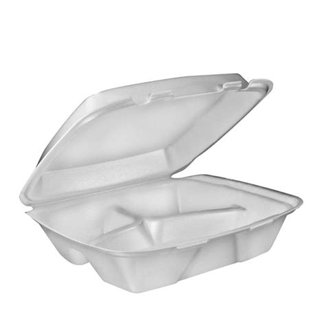 8 x 7.5 Foam 3 Comp. Hinged Lid Container - 80HT3 (200)