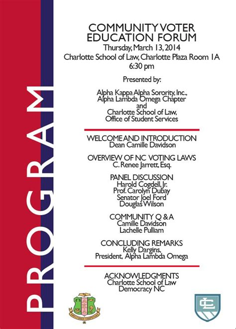 event program design voter education program design