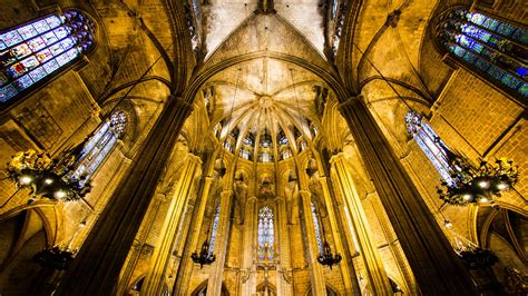 Wallpaper Barcelona Cathedral, Spain, tourism, travel ...
