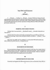 download florida last will and testament form for free With will template california