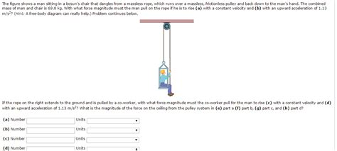 the figure shows a sitting in a bosun s chair chegg