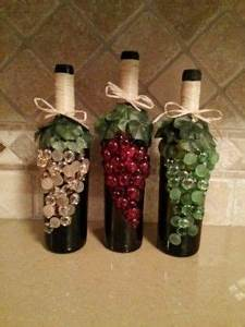 how to decorate wine bottles with beads Google Search