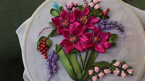 hand embroidery designs ribbon embroidery stitches