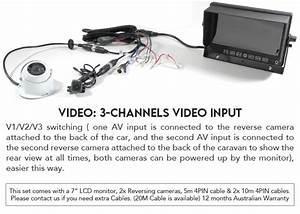 7 U0026quot  Monitor Hd 12v  24v Reversing Ccd 2 Camera 4pin System