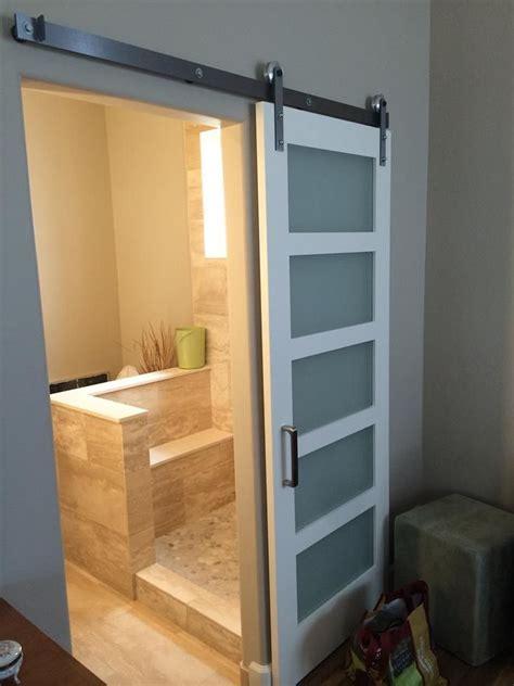 Sliding Barn Door Bathroom Privacy : Traditional Bathroom