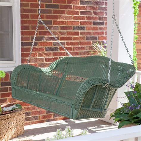 resin porch swing coral coast casco bay resin wicker porch swing at
