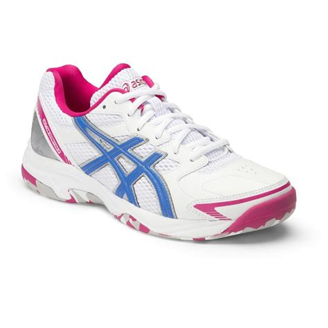 asics gel shepparton   womens lawn bowls shoes whiteelectric bluemagenta
