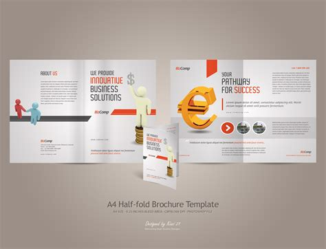 Half Fold Brochure Template Word by Half Fold Brochure Template Free Best And Professional