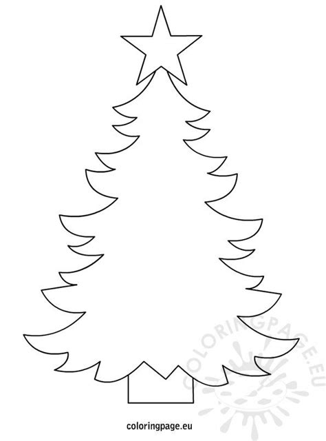 christmas tree template  print coloring page