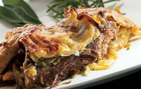 lidias layered casserole  beef cabbage  potatoes