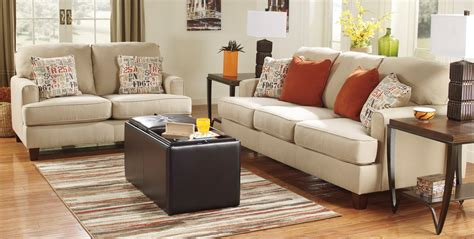 living room l sets buy ashley furniture 1600038 1600035 set deshan birch