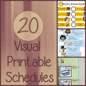 Daily Visual Schedule Printables