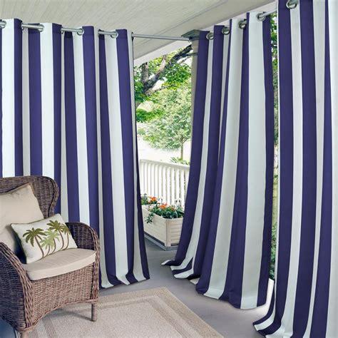 Striped Draperies by Elrene Aiden Stripe 50 In W X 95 In L Indoor Outdoor