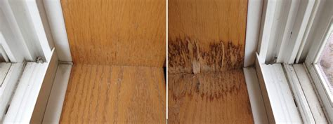 What Wood To Use For Window Sill by What Do Water Stains On Windows