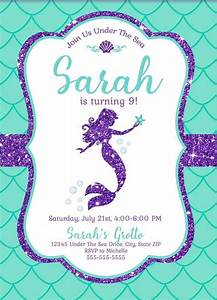 Free Mermaid Invitation Template For Your Kids U2019 Parties