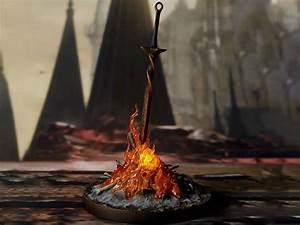Dark, Souls, Iii, Bonfire, 1, 6, Scale, Light