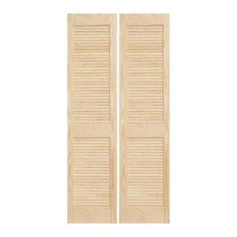 louvered doors home depot interior jeld wen 30 in x 80 in woodgrain 2 panel full louver solid core wood interior closet bi fold