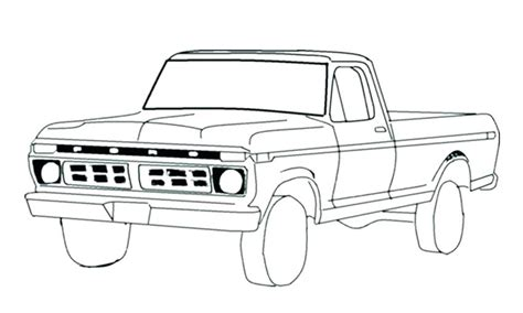 Classic Cars And Trucks Coloring Pages Classic Truck Coloring Pages At Getcolorings Free