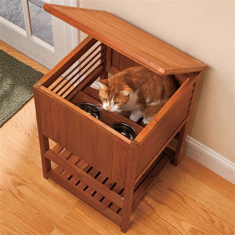 elevated cat food table tiered cat feeding station the green head