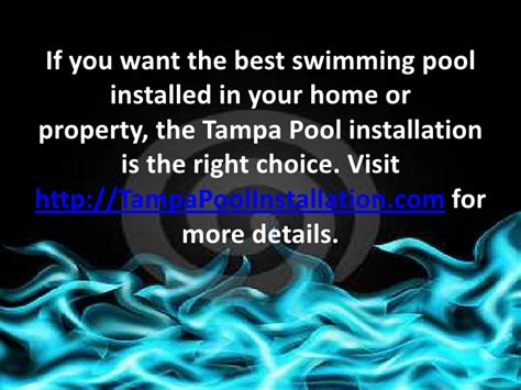 tampa pool installation  handy    home pool