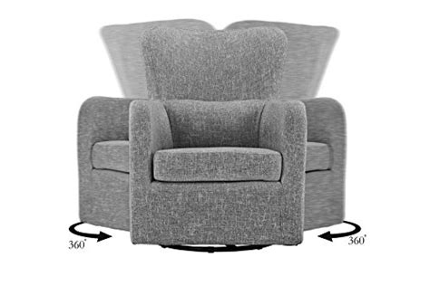 Modern Swivel Armchair, Rotating Accent Chair For Living