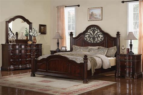 wynwood heritage manor cherry king size mansion bed