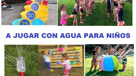 Juegos Para Niños Con Agua Youtube