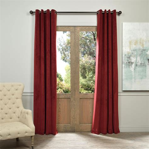 signature grommet red 50 x 108 inch blackout curtain half