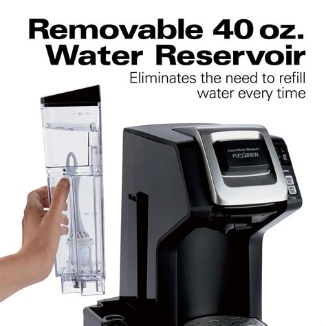 Coffee maker must be operated on a flat surface away from the edge of counter to prevent accidental tipping. Hamilton Beach FlexBrew® WiFi-Connected Single-Serve Coffee Maker with Removable Water Reservoir ...