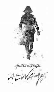 Snape Art Print Black&White Quote Always Poster Print by ...
