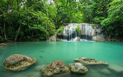 Waterfall Tropical Lake Forest Landscape Thailand Jungle