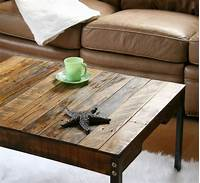 reclaimed coffee table Rustic Industrial Reclaimed Wood Coffee Table with Iron Legs