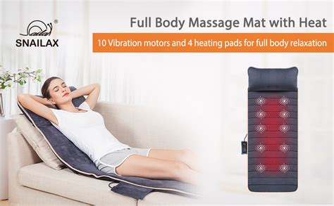 Amazon.com: Massage Mat with 10 Vibrating Motors and 4