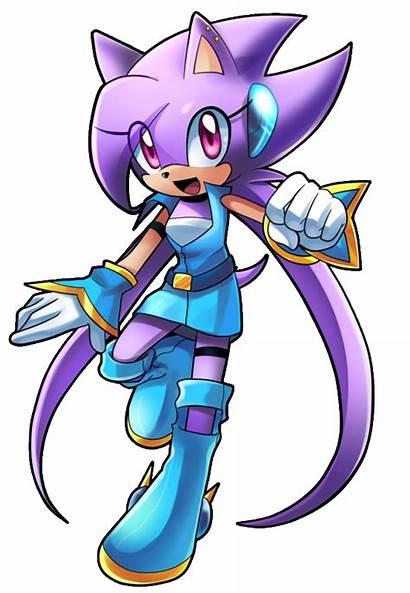 Lilac Freedom Sash Hedgehog Planet Sonic Clipart