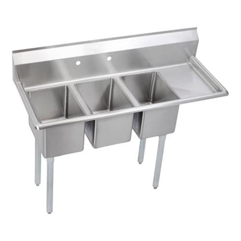 three compartment kitchen sink elkay deli three compartment sink 6107