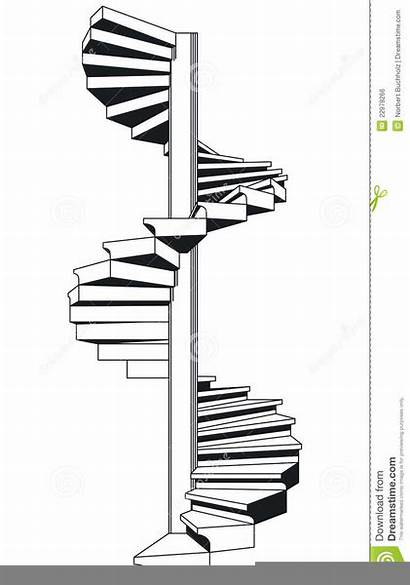 Clipart Stairs Staircase Curved Spiral Clip Clipground