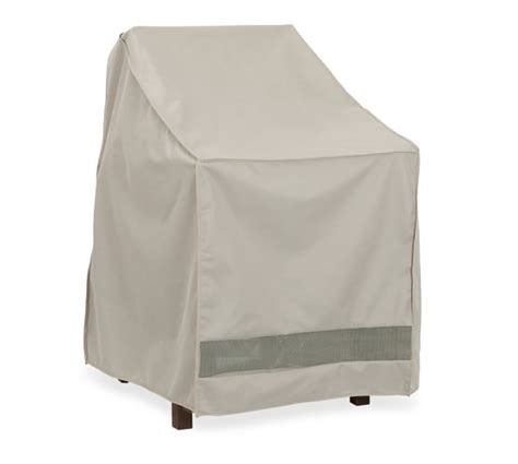 universal outdoor stacking dining chair cover pottery barn