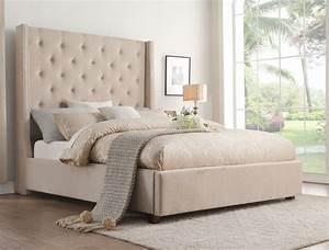 Fairborn, Beige, Cal, King, Upholstered, Platform, Bed, From, Homelegance