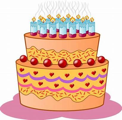 Cake Birthday Clipart Clip Cakes Cartoon Drawing