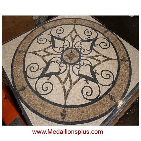 "KRISTINE II, 36"" Honed Square Mosaic Medallion"