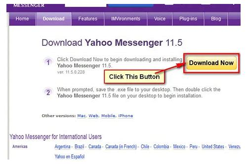 download yahoo messenger on my laptop