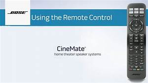 How To Program And Use Your Bose U00ae Universal Remote Control