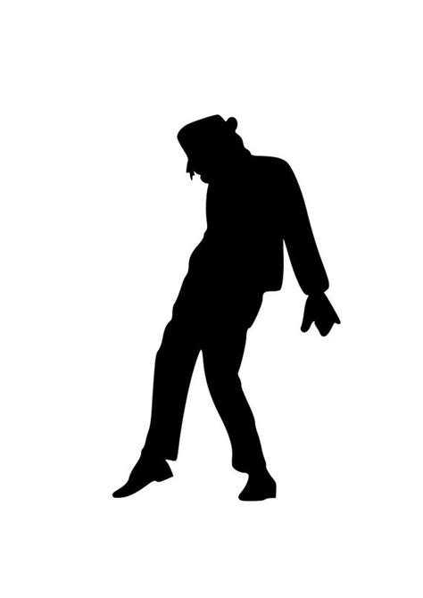 library  michael jackson silhouette png library stock png files clipart art