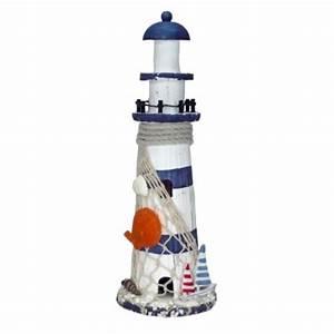 Decoration Bord De Mer Pas Cher : phare marin 29 cm bleu blanc achat vente d cor marin pas cher ~ Teatrodelosmanantiales.com Idées de Décoration